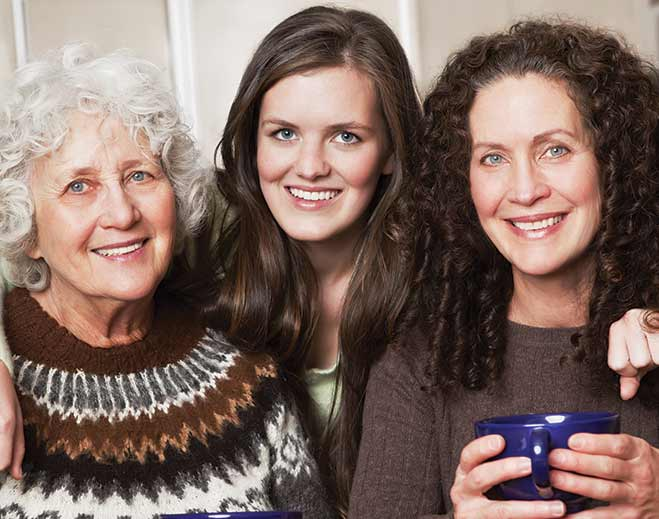 community-family-three-women